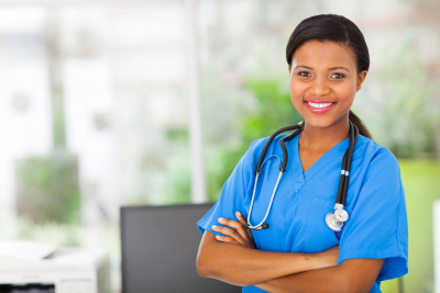 beautiful nurse smiling